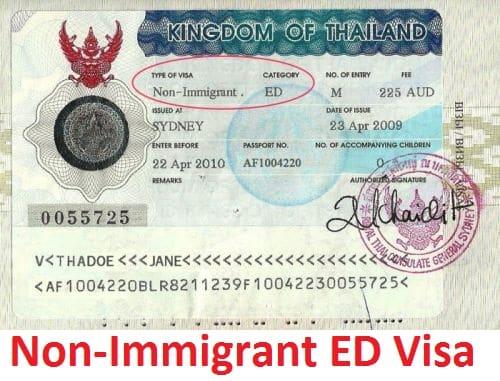 thai-ed-visa